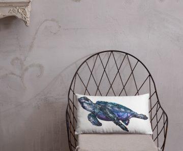 Turtle Blues Soft Rectangular Pillow
